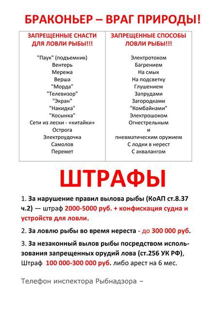 какой штраф за ловлю рыбы сетями в московской области