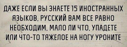 Русский язык - велик и могуч